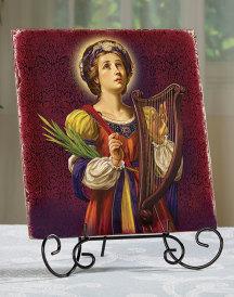 Saint Cecilia Ceramic Tile