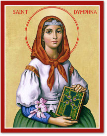 Saint Dymphna Icon - 4.5