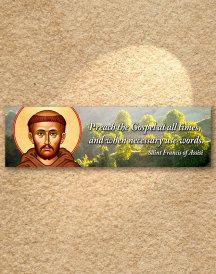 Saint Francis Inspirational Plaque