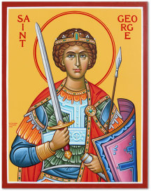 Saint George the Great Martyr Original Icon 14 tall