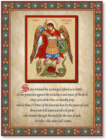 Saint Michael Prayer Plaque - 8