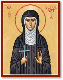 Saint Scholastica icon - 3