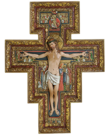 San Damiano Handpainted Crucifix - Large