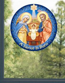 Savior is Born Window Vinyl