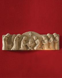Sculpted Stone Manger Scene