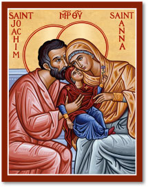 Saints Joachim & Anna Icon Magnet