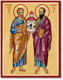 Saints Peter and Paul Icon Magnet