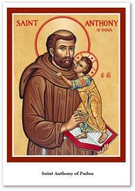 St. Anthony of Padua Holy Cards