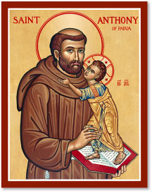 St. Anthony of Padua icon - 4.5