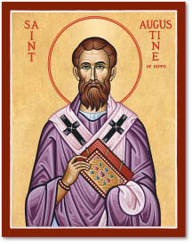 St Augustine of Hippo icon - 4.5
