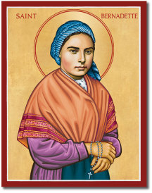 St Bernadette Icon