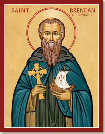 St Brendan the Navigator icon