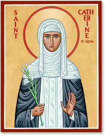 St. Catherine of Siena icon - 4.5