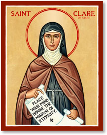 Saint Clare Icon Magnet