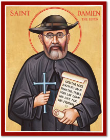 St. Damien of Molokai icon