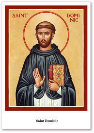 St. Dominic Holy Cards