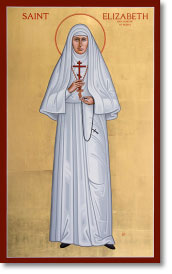 "St. Elizabeth the New Martyr original icon 48"" tall"