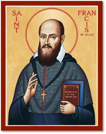 St Francis de Sales icon