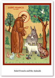 St. Francis & Animals Holy Cards