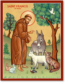 St. Francis & the Animals icon - 4.5