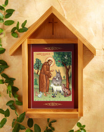 St Francis Indoor-Outdoor Cedar Shrine