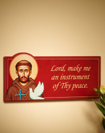 St Francis Inspirational Wall Plaque