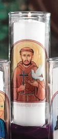 St. Francis Votive Candle