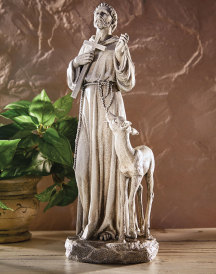 St Francis with Deer Figurine