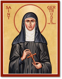 St. Gertrude icon - 3