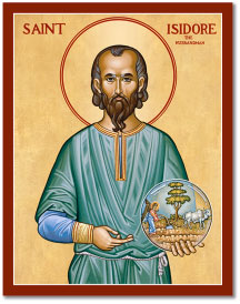 St. Isidore the Farmer Icon - 4.5