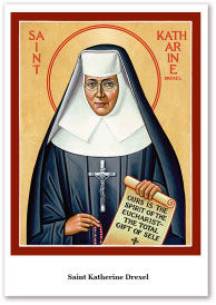 St. Katharine Drexel Holy Cards