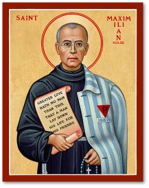St. Maximilian Kolbe Icon - 4.5