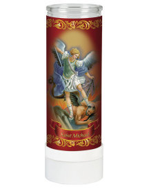 St Michael Electric Votive Candle