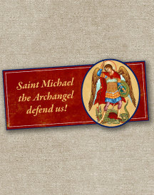St Michael Inspirational Magnet