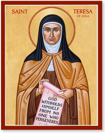 St Teresa of Avila icon - 4.5