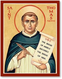 St Thomas Aquinas icon