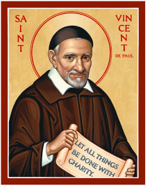 St. Vincent de Paul Icon