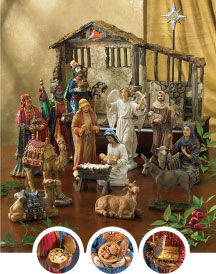 Three Kings Nativity - discounted full 14-inch set