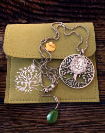Tree of Life Madonna Pendant - Stainless Steel