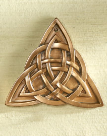 Trinity Knot Brass Resin Plaque
