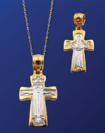 Two-Sided Gold Cross