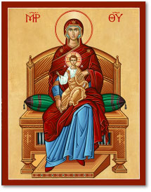 Virgin Enthroned icon
