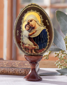 Virgin of Hope Icon Egg
