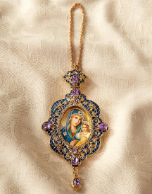 Virgin Mary Jewelled Icon Ornament