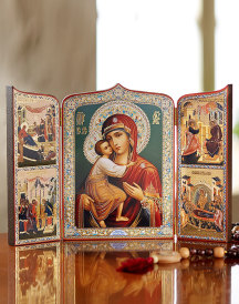 Virgin Mary Story Icon Triptych