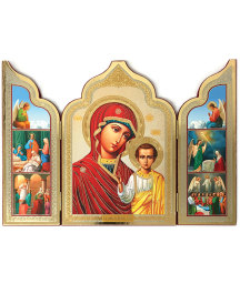 ON SALE Virgin of Kazan Triptych
