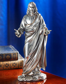 Welcoming Christ in Pewter Style Finish