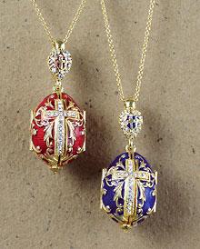 Faberge Style Egg Pendants