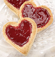 Raspberry Almond Heart Cookie