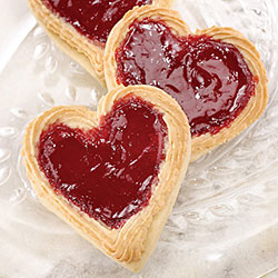 Raspberry Almond Hearts
